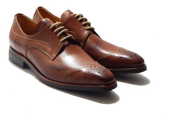 Zapatos Acordonados Milano Cuero Priamo Italy
