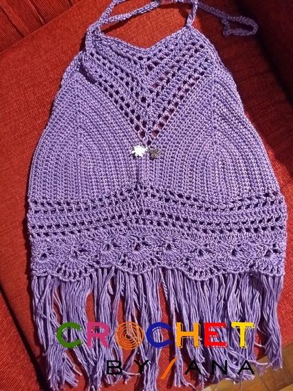 Top Violeta A Crochet