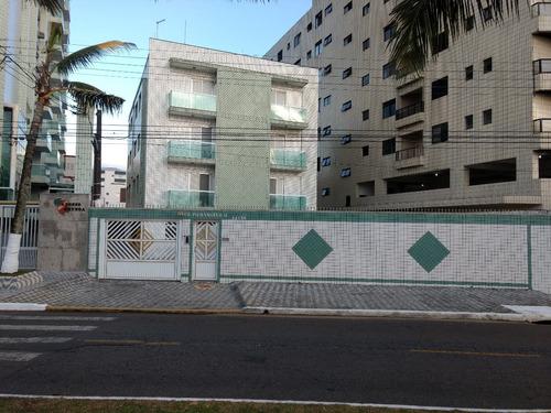 Imagem 1 de 12 de Apartamento Praia Grande Caiçara - Prédio Frente Mar