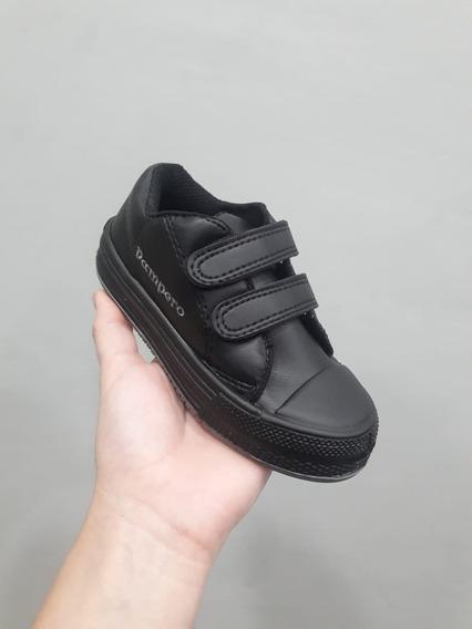 Zapatillas Colegiales Pampero Sintético Negro Abrojo