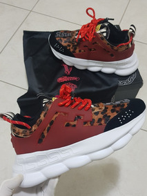 Tenis Versace Chain Reaction Animal Print Outfit Hype Tam40