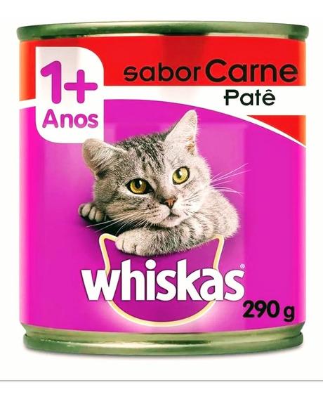 Alimento Úmido Whiskas Patê Carne 290g