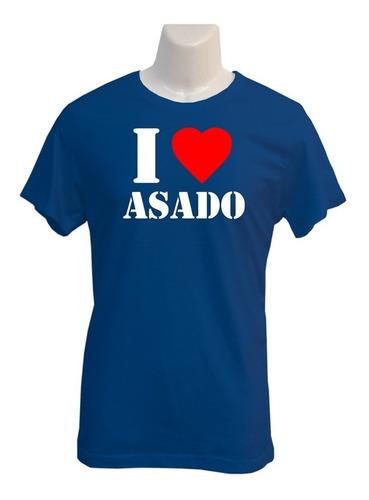 Polera I Love Asado - Polo - Regalo - Fiesta - Parrillada
