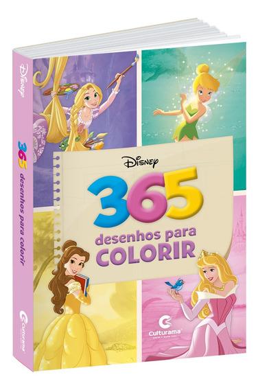 Livro Princesas Disney 365 Desenhos Para Colorir Culturama