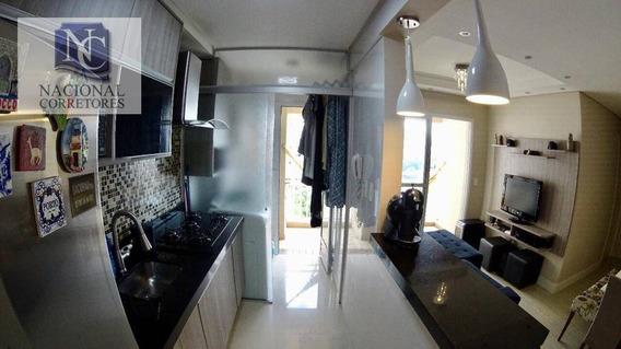 Apartamento Com 2 Dormitórios À Venda, 56 M² Por R$ 350.000 - Campestre - Santo André/sp - Ap9987