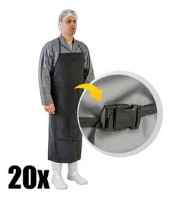 20 Avental De Pvc Preto Cozinha Industrial Com Ca