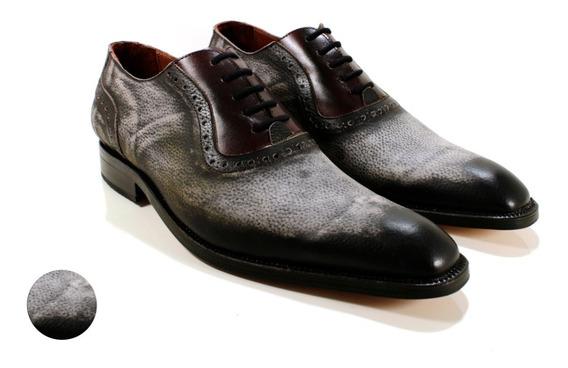 Oxford Hombre Zapato Cuero Vacuno Diseño Donato By Ghilardi