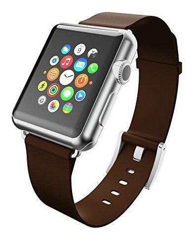Correa De Cuero Incipio Apple Watch Premium 42 Mm Espresso