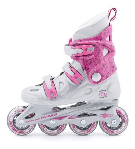 Patines En Linea Hondar Holy Pink Slalom Freeskate 12 Cuotas