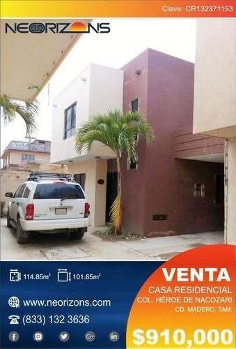 Casa En Venta Col. Heroes De Nacozari, Cd. Madero **oferta Única**