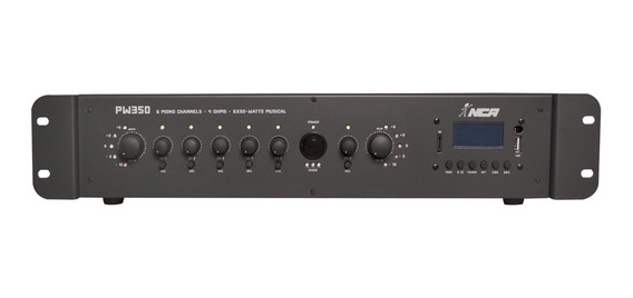 Mixer De Som Amplificado 4 Ohms 180w Rms Bivolt Ll Áudio