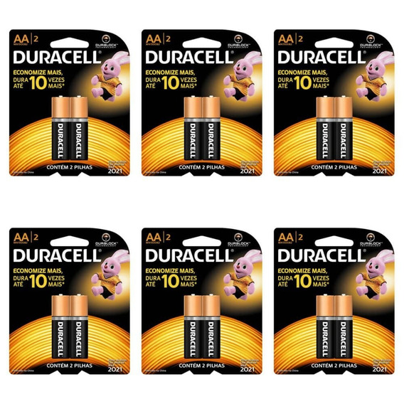 Duracell Pequena Pilha Aa C/2 (kit C/12)