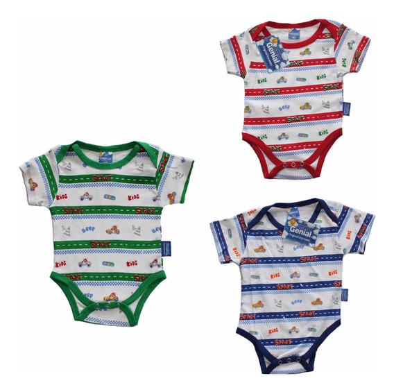 Bodys Para Bebes 3 Piezas 3 Colores