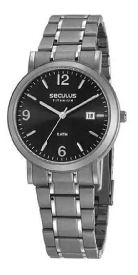 Relógio Seculus Masculino Clássico Titânio - 23637g0svnt2