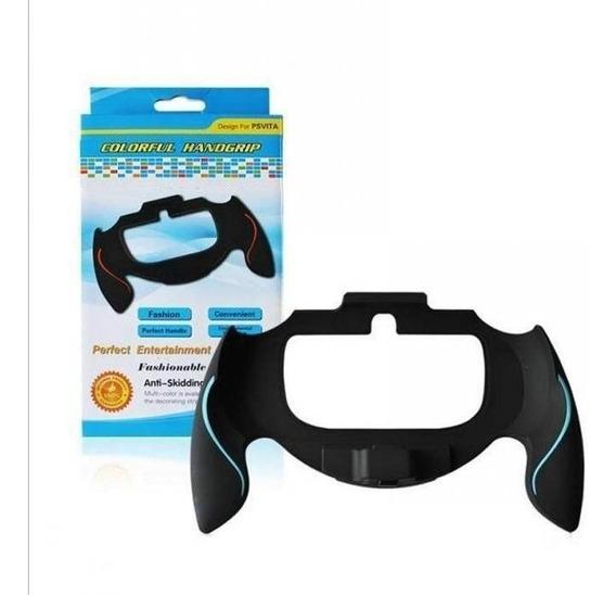 Suporte De Mão Ps Vita 1000 Fat Sony Grip Stand Preto/azul