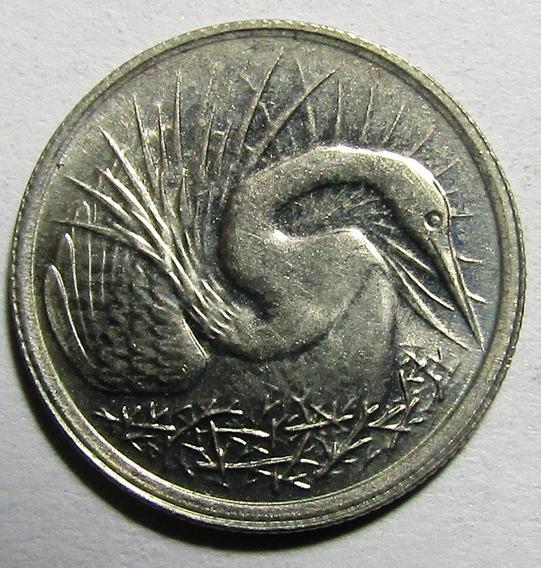 Singapur Moneda Niquel 5 Centavos 1983