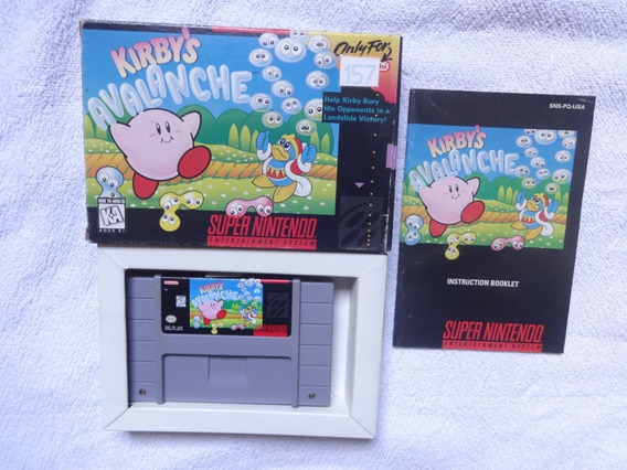 Kirbys Avalanche Original Com Caixa E Manual Nintendo .