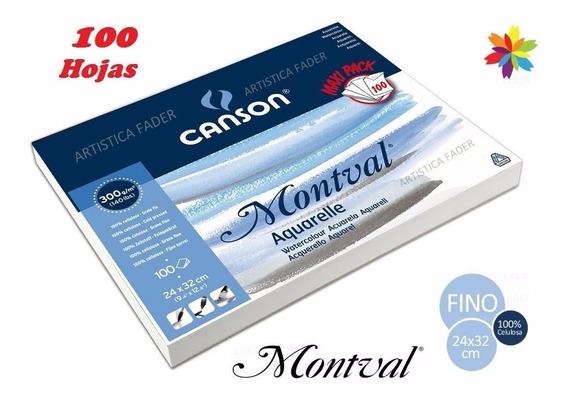 Block Canson Montval 24x32 300grs 100 Hojas Acuarela