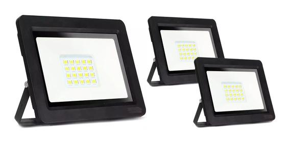 Kit 3 Refletor Holofote Micro Led Smd 50w Branco Frio 6000k