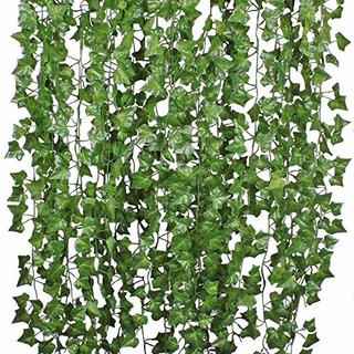 Pack 36 Tiras Planta Artificial Enrredadera 2.1m Decoración