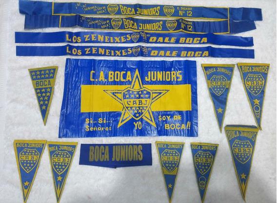 Coleccion Banderines Banderas Vinchas Boca Juniors Bj02