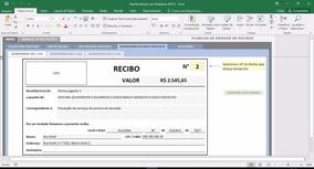 Planilha Recibo - Completa Com Relatório E Logo - Acx15