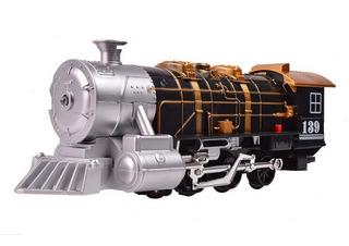 Locomotora Antigua Con Humo Real Luz Sonidos Bocina A Pilas