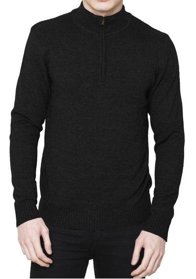 Sweater Hombre Tejido Importado Pullover Algodón Con Cierre