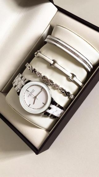 Relógio Feminino Anne Klein Com Bracelete