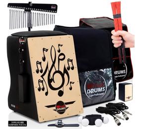 Cajón Witler Drums Eletroacústico   Kit De Acessórios