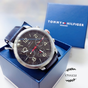 Relógio Tommy Hilfiger 1791232 Prata Aço Inox Couro Preto