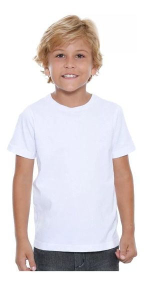 10 Camisa Infantil Lisa Poliéster Para Sublimaçã Atacado