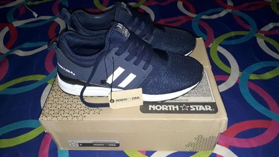 Zapato Original Azul North Star Tenis Talla 39