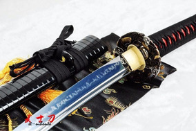 Espada Katana Samurai Afiada Aço T10 Funcional Combate Corte
