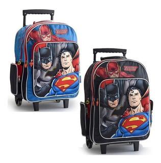 Mochila Superman Batman Carro Liga De La Justicia 18p 61793