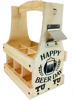 Huacal Canasta Porta Botellas De Cerveza Beer Caddy Six Pack