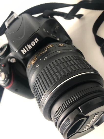 Camera Nikon D5100 Com Duas Lentes: 18-55mm E 35mm 1:1.8g