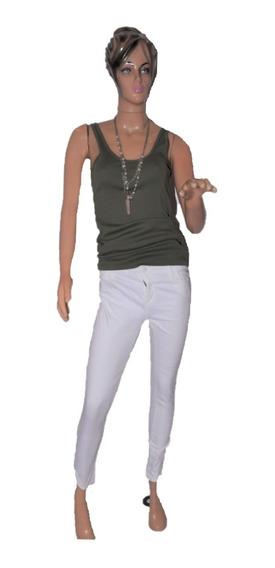 Maria Cher Pantalon Chupin Jim Blanco Cigarette