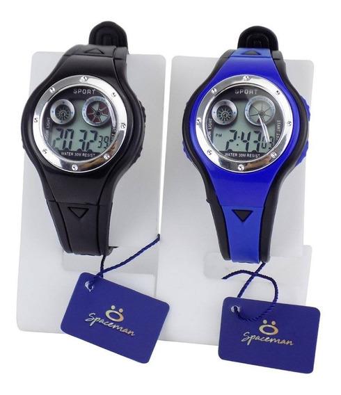 Kit 2 Relógios Infantis Digitais Ajustáveis Com Luz E Alarme