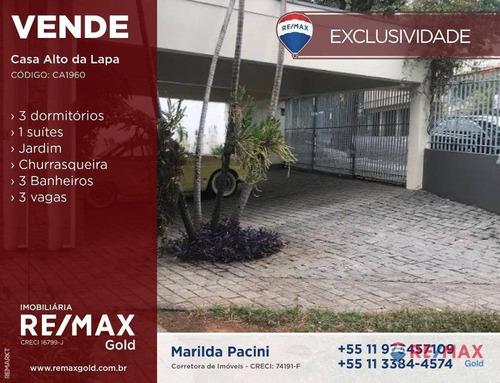 Casa Linda City Lapa,vila Leopoldina E 3 Dormitórios 1 Suite , Sala Ampla ,quintal,solarim, Churrasqueira 3 Vagas - Ca1960