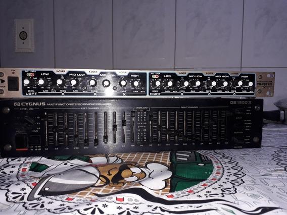 Um Equalizador Cignus Ge 1800x.Um Crossover Voxman Cb 432 X