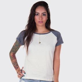 Fábrica De Camisas: Blusa Baby Look Raglan Feminina