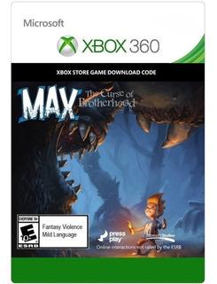 Max The Curse Of Brotherhood (xbox One / Xbox 360) Codigo