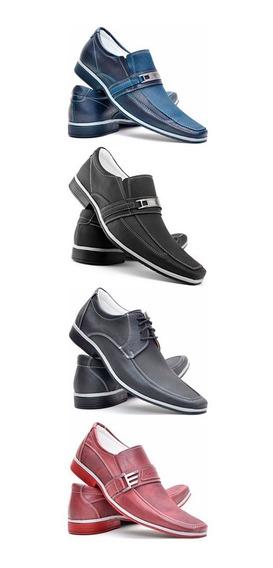 Sapato Masculino Casual Kit 4 Pares Sapatenis Tenis Promoção