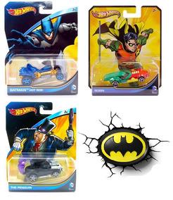 Hot Wheels Batman Robin 3 Carrinhos Dc Mattel