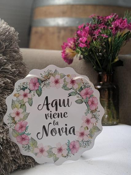 Promo Cartel Cortejo Boda Entrada Novia Casamiento Rígido