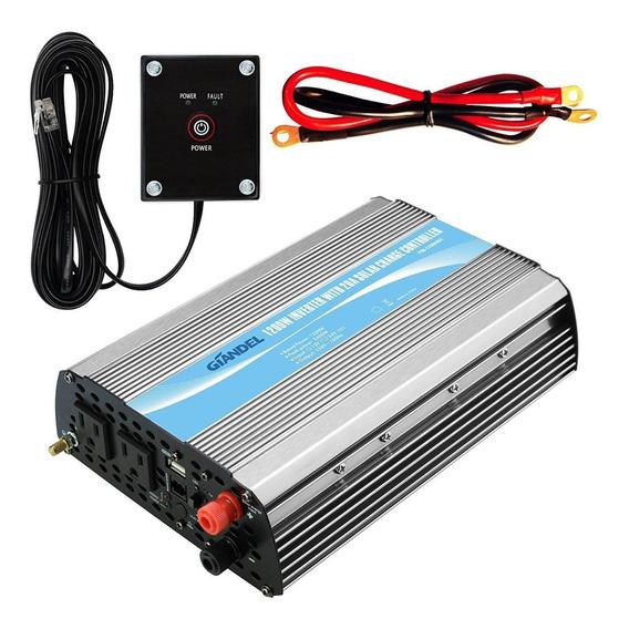 8 Piezas Inversor Solar 1200watt Power Inverter 24v Dc 110v