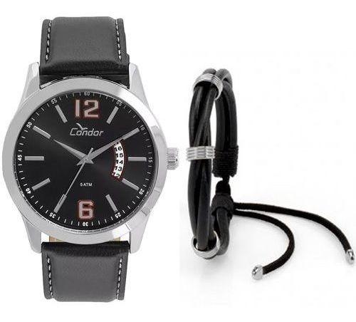 Relógio Condor Masculino Kit Pulseira