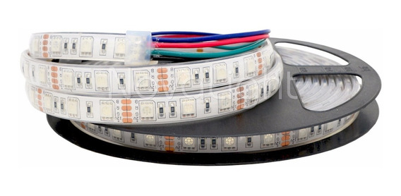 Tira 300 Led 5050 Rgb Multicolor - Sumergible - Exteriores Ip68 12v Piscinas Alta Calidad