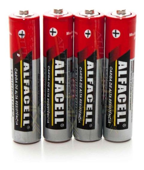 Pilhas Aa Alcalina 1,5 Voltagem R6p Alfacell 4 Unidades